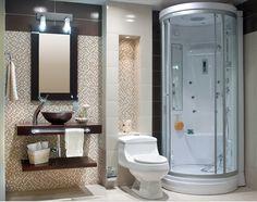 Mezcla de lo #rústico y lo moderno. Panel de ducha #Corona inspira