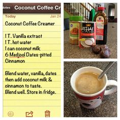 Tasty paleo coffee creamer recipe!! Yum!