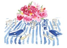 """tablescape from deborah needleman's """"the perfectly impoerfect home"""""""