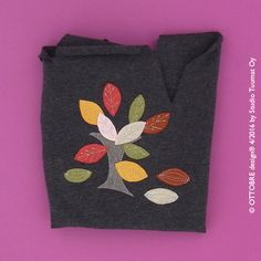 How to make a cute applique on a beanie from OTTOBRE design 4/2015      You need:  -grey or other solid color cotton jersey (95%cotton...