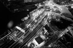 View from Excelsior Hotel Hong Kong 28th Floor #leica #leicaq #28mmsummilux #ライカ #hotel #hongkong #blackandwhite #monochrome #night #streets #highway #view #travel #cars #香港 #causewaybay #cantonese #asia #photo #photographer