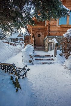 Life in a Polish Cottage, Zakopane Poland Winter Magic, Winter Snow, Beautiful World, Beautiful Places, Poland Travel, Winter Scenery, Snow Scenes, Winter Pictures, Cabins In The Woods