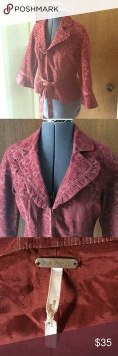 Free People Tapestry Blazer Brass hooks and waist sash. No rips or stains. Free People Jackets & Coats Blazers