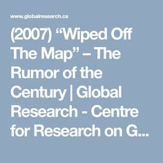 """(2007) """"Wiped Off The Map"""" – The Rumor of the Century  