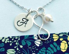 Infinity Necklace Sterling Silver Infinity by UniquelyImprint
