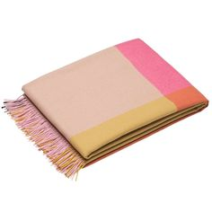 vitra colour block pledd rosa/beige