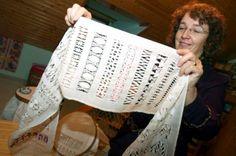 Una vecina salmantina prepara su ingreso en el Libro Guiness con un bordado de vainicas – Gente – Noticias, última hora, vídeos y fotos de G...