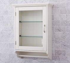 Above Toilet-- use for medicine cabinet as well as hand towel. Page Wall Cabinet #potterybarn