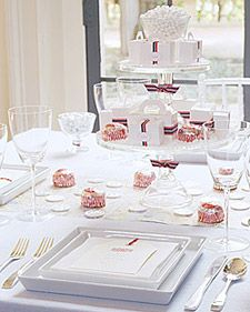 cake stands with favors and candy