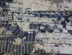 BoroShimacho. Shimacho, or the albums of (primarily) striped hand woven cotton swatches that were kept by families as inspiration for weaving. Shimacho are usually made by pasting swatches into a recycled book, often a ledger book or something similar.