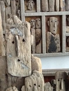 "lustik: "" Driftwood sculptures by Marc Bourlier. Lustik: twitter   pinterest   etsy """