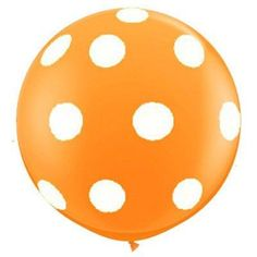 "36"" Round Polka Dot Balloons: Juicy Orange Dots"