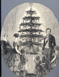 The image of Queen Victoria, Prince Albert and their children with their Christmas tree, which featured in the Illustrated London News Christmas Tree Origin, Christmas History, English Christmas, Christmas Tale, Victorian Christmas, Christmas Carol, Vintage Christmas, Christmas Classics, Christmas Books