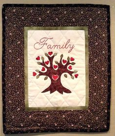 Family Tree Mini Quilt Wall Hanging by zizzybob on Etsy, $30.00