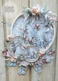 Create Christmas Cards, Christmas Crafts, Making Ideas, Card Making Inspiration, Mixed Media Cards, Mixed Media Artwork, Embroidery Hoop Crafts, Shabby Chic Crafts, Diy Wreath