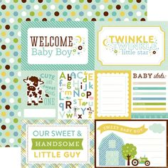 echo park paper welcome baby boy