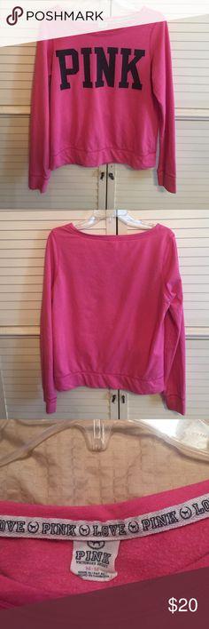 VS Pink sweatshirt VS Pink sweatshirt in good condition PINK Victoria's Secret Tops Sweatshirts & Hoodies