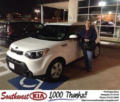 https://flic.kr/p/DWdxZ9 | Happy Anniversary to Sheri on your #Kia #Soul from Clinton Miller at Southwest Kia Mesquite! | deliverymaxx.com/DealerReviews.aspx?DealerCode=VNDX