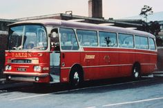 Barton Transport fleet no.1010, a modified design Harrington 'Grenadier' bodied AEC Reliance. The vehicle was photographed at Derby bus station and was operating on the X42, Nottingham to Derby Express service