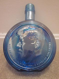 Awesome full size JFK decanter by Wheaton Glass - a true collectable.