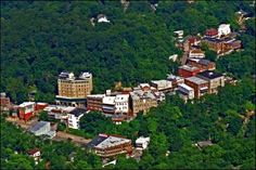 Aerial view of Eureka Springs