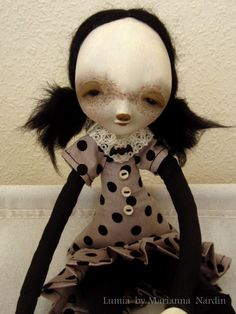 Lumia, paper clay art doll by Circus of lost Dolls Etsy shop