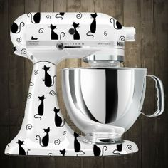 kitty cat black  Kitchen aid mixer decals {need to either find these or have someone make the decals}