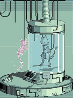 "hiddentavern:""The Birth of Mewtwo""par Jigz666"