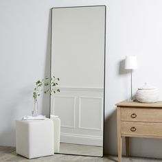 Chiltern Thin Metal Full Length Mirror | Mirrors | Home Accessories | Home | The White Company UK