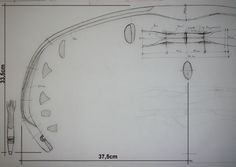 Sketch of a half of the Turkish composite bow, presented in the Xrays by Stefan Demeter
