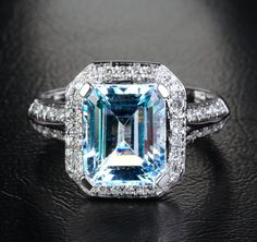 Aquamarine emerald cut