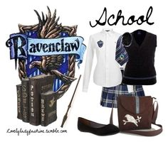 School Days by sad-samantha on Polyvore featuring Ralph Lauren Blue Label, Juicy Couture and Ko Fashion