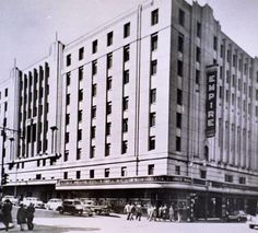 Empire Johannesburg.  The Empire Theatre was situated in Commissioner Street at the corner of Kruis Street - diagonally opposite the Colosseum Theatre. It was a very impressive building and opened in September 1936 to form part of the African  Consolidated Theatres chain. The very stately and ornate auditorium had both stalls and circle seating and when used as a cinema