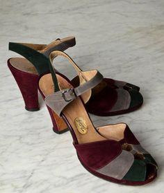 1940s Peep Toe Shoes1940s Shoes Vitality Shoes Leather