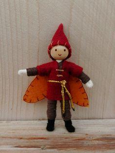 Miniature elf boy Autumn fairy doll Waldorf Inspired Wildflower Innocence