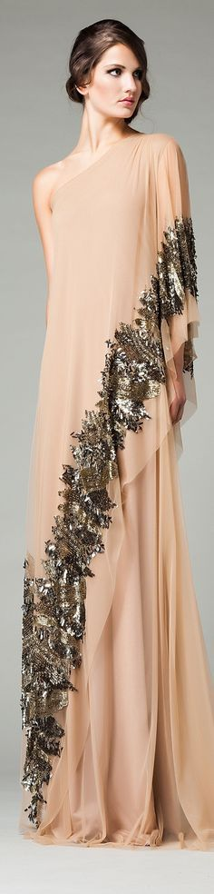 maxi dress @roressclothes closet ideas women fashion outfit clothing style apparel Veloudakis Gold AW 2015/16