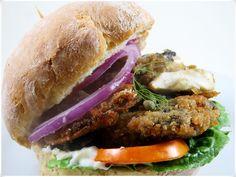Vegan Fish Burger Juicy and Flaky