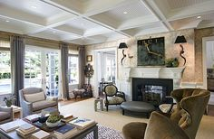 My home for Behind The Privet this week is a past Hampton Designer Showhouse that is currently listed for summer rental . I remember. British Colonial Style, Dream Rooms, Beautiful Space, Beautiful Interiors, Living Spaces, Living Rooms, Decoration, The Hamptons, Diy Home Decor