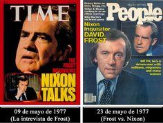 Luego de su dimisión como Presidente de los Estados Unidos, en 1974, Richard Nixon mantuvo el silencio sin hacer declaración alguna a la prensa. No obstante, en 1977 aceptó conceder una única entrevista, en cuatro partes, al periodista británico David Frost y referirse a su mandato y al escándalo Watergate.