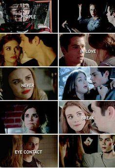 """""""People in love never break eye contact"""" Teen Wolf Stydia, Teen Wolf Mtv, Teen Wolf Ships, Teen Wolf Funny, Teen Wolf Dylan, Teen Wolf Cast, Dylan O'brien, Malia Tate, Lydia Martin"""