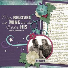 Layout using On My Knees kit by Susan Godfrey Designs.