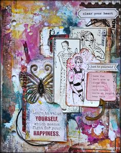 Art Journal page by Kelly Foster using one of the new Magical Monarchs!
