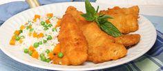 A receita é simples, mas faz sempre sucesso. Filetes de pescada com arroz colorido