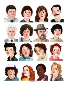 Drawing Hairstyle Maggie Cole Illustration - Maggie Cole Stranger Things poster- inches on satin poster paper. Face Illustration, Portrait Illustration, Character Illustration, Illustrations Pop, Cartoon Drawings, Art Drawings, Art Graphique, How To Draw Hair, Character Design Inspiration
