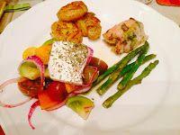 Oregano lemon chicken with roast new potatoes - Greek delights.