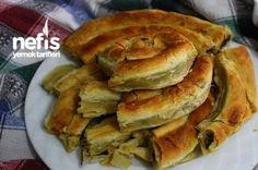 Kolay El Açması Ispanaklı Börek Yapımı Tarifi Baby Food Recipes, Great Recipes, Spinach Pie, Recipe Mix, Turkish Delight, Turkish Recipes, Bakery, Food And Drink, Appetizers