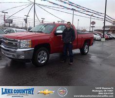 #HappyAnniversary to Houston Hart on your 2012 #Chevrolet #Silverado 1500 from Aaron  Shieldnight at Lake Country Chevrolet Cadillac!