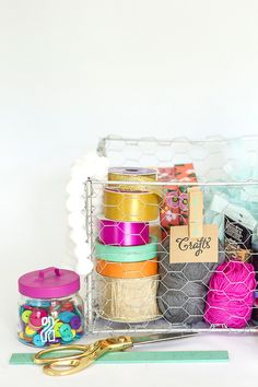 How To Make A DIY Industrial Wire Basket | Dream Green DIY