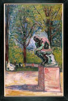 EDVARD MUNCH (1863 -1944) LE PENSEUR DE RODIN DANS LE PARC DU DOCTEUR LINDE À LÜBECK Vers 1907