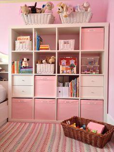 Ikea Childrens Bedroom, Kids Bedroom, Bedroom Decor, Ikea Girls Room, Girls Bedroom Organization, Kids Bed Design, Baby Room Neutral, Baby Room Diy, Toddler Rooms